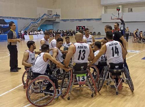پیروزی تیم ملی بسکتبال با ویلچر مردان ایران برابر کره جنوبی